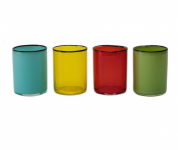 Set da 4 Bicchieri Acqua Colorati 40 cl SLEEK - COLORI ASSORTITI