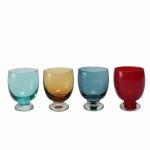Set da 4 Calici Acqua Colorati 32 cl SLEEK - COLORI ASSORTITI