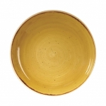 Piatto Fondo Coupe Mustard Yellow STONECAST CHURCHILL