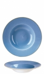 Pasta Bowl Cornflower Blue STONECAST CHURCHILL