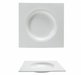Piatto Fondo Quadro Bone China GOURMET