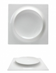 Piatto Quadro Rialzato Bone China  GOURMET